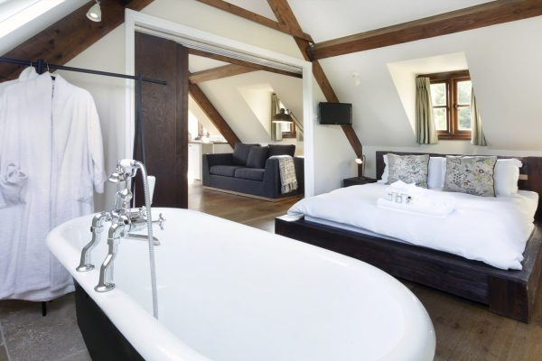 Upstairs Pool Lodge Bedroom at New House Farm Country Retreat
